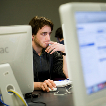 Faculty of IT student using Mac computer